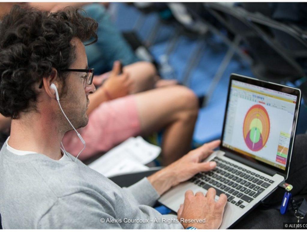 Christopher Pratt concentré pour la préparation de la Transat Jacques Vabre 2017