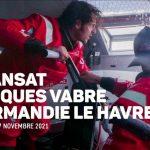 Christopher Pratt et Jérémie Beyou au départ de la Transat Jacques Vabre 2021